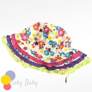 🍒Infant Floral Sunhat with Wide Brim - 0-24m